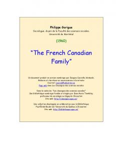 The French Canadian Family