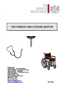 THE FRENCH HEALTHCARE SECTOR