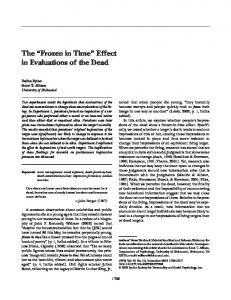 The Frozen in Time Effect in Evaluations of the Dead