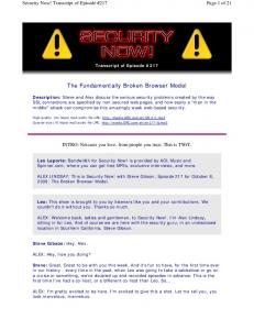 The Fundamentally Broken Browser Model