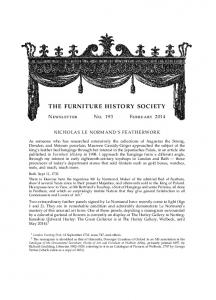 THE FURNITURE HISTORY SOCIETY