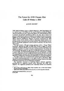 The Future for ADR Clauses After Cable & Wireless v. IBM