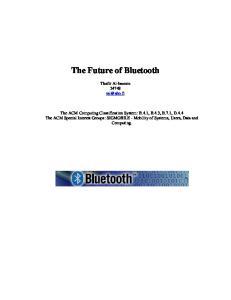The Future of Bluetooth
