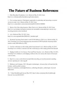 The Future of Business References