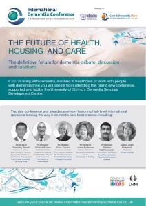 THE FUTURE OF HEALTH, HOUSING AND CARE
