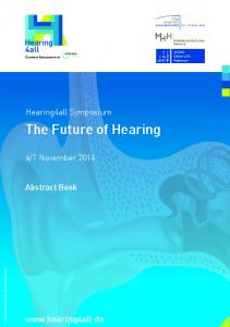The Future of Hearing