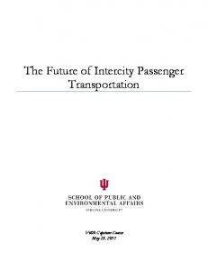The Future of Intercity Passenger Transportation
