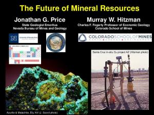 The Future of Mineral Resources