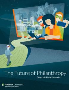 The Future of Philanthropy Where individual giving is going