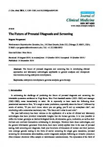 The Future of Prenatal Diagnosis and Screening