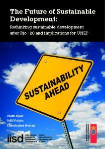 The Future of Sustainable Development: