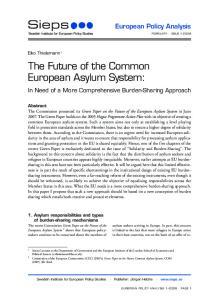 The Future of the Common European Asylum System: