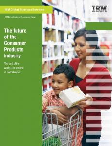 The future of the Consumer Products industry