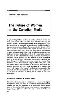 The Future of Women in the Canadian Media