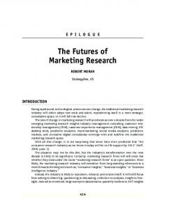 The Futures of Marketing Research
