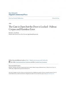The Gate is Open but the Door is Locked - Habeas Corpus and Harmless Error