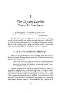 The Gay and Lesbian Crime-Fiction Scene