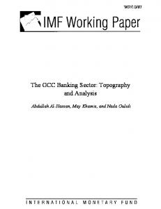 The GCC Banking Sector: Topography and Analysis