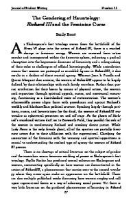 The Gendering of Hauntology: Richard III and the Feminine Curse