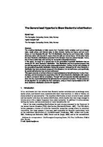The Generalised Hyperbolic Skew Student s t-distribution
