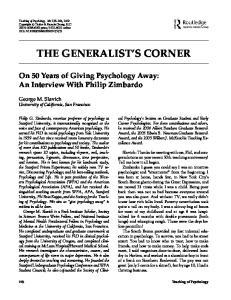 THE GENERALIST S CORNER