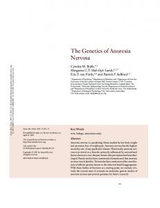 The Genetics of Anorexia Nervosa
