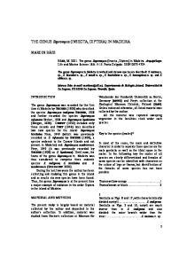 THE GENUS Sapromyza (INSECTA, DIPTERA) IN MADEIRA