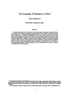 The Geography of Repression in Africa