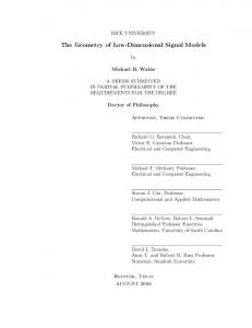 The Geometry of Low-Dimensional Signal Models