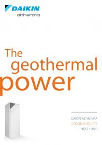 The. geothermal. ower. DAikin Altherma ground source heat pump