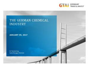 THE GERMAN CHEMICAL INDUSTRY