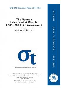 The German Labor Market Miracle, : An Assessment