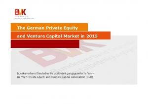 The German Private Equity and Venture Capital Market in 2015