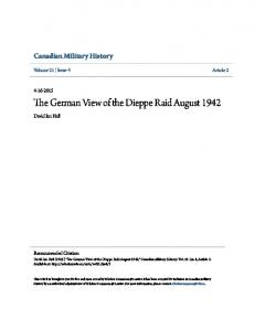 The German View of the Dieppe Raid August 1942
