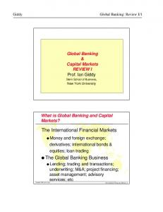 The Global Banking Business
