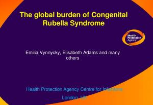 The global burden of Congenital Rubella Syndrome