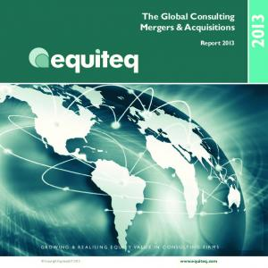 The Global Consulting Mergers & Acquisitions