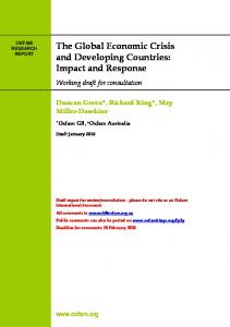 The Global Economic Crisis and Developing Countries: Impact and Response