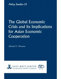 The Global Economic Crisis and Its Implications for Asian Economic Cooperation
