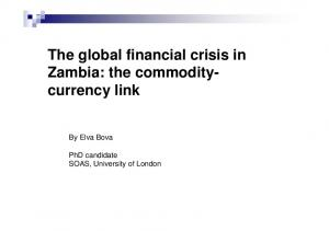The global financial crisis in Zambia: the commoditycurrency