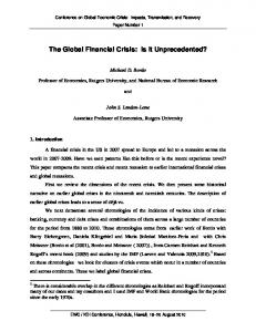 The Global Financial Crisis: Is It Unprecedented?
