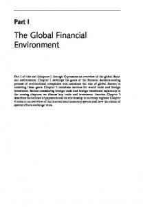 The Global Financial Environment