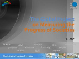 The Global Project on Measuring the Progress of Societies