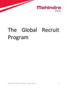 The Global Recruit Program