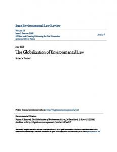 The Globalization of Environmental Law