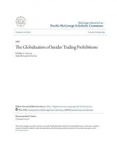 The Globalization of Insider Trading Prohibitions