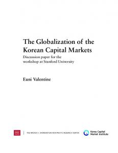 The Globalization of the Korean Capital Markets