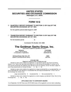 The Goldman Sachs Group, Inc