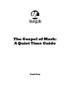 The Gospel of Mark: A Quiet Time Guide