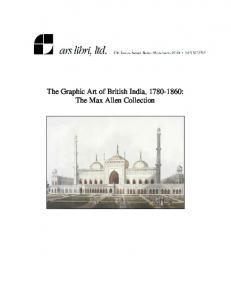 The Graphic Art of British India, : The Max Allen Collection